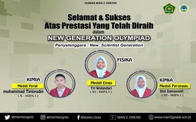 SISWA MAN 2 GRESIK RAIH MEDALI DI NEW GENERATION OLYMPIAD 2