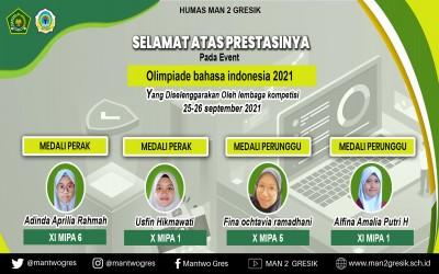 MAN 2 GRESIK RAIH 4 MEDALI DI OLIMPIADE BAHASA INDONESIA 2021