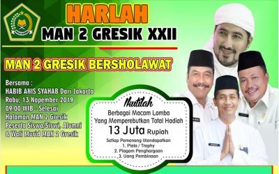 MAN 2 GRESIK Mengundang dalam Rangka Peringatan HARLA KE XXII (update)