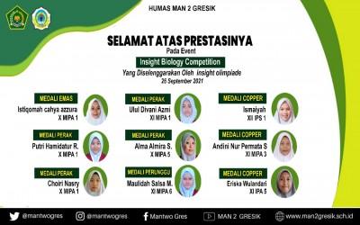 9 MEDALI BERHASIL DIRAIH OLEH SISWA-SIWI MAN 2 PADA INSIGHT BIOLOGY COMPETITION 2021