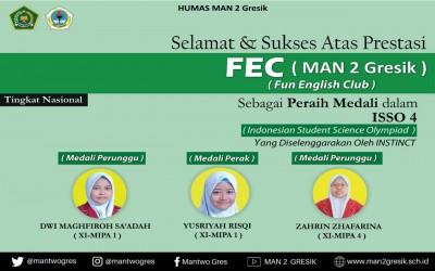 TIM FEC MAN 2 GRESIK RAIH 3 MEDALI DALAM EVENT NASIONAL ISSO 4 (INDONESIAN STUDENT SCIENCE OLYMPIAD)